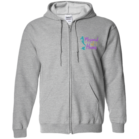 Mermaid Of Honor Zip Up Hooded Sweatshirt - Sweatshirts - Rebel Style Shop