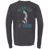 Mermaid Of Honor Youth Jersey LS T-Shirt - T-Shirts - Rebel Style Shop