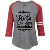 Faith Can Move Mountains Ladies' Vintage V-Neck T-Shirt - T-Shirts - Rebel Style Shop