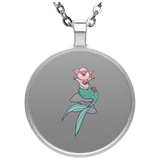 Mermaid Pig Circle Necklace