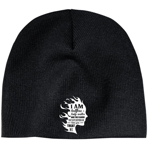 "Inspirational Beanie - ""I Am Both Hellfire And Holy Water"""