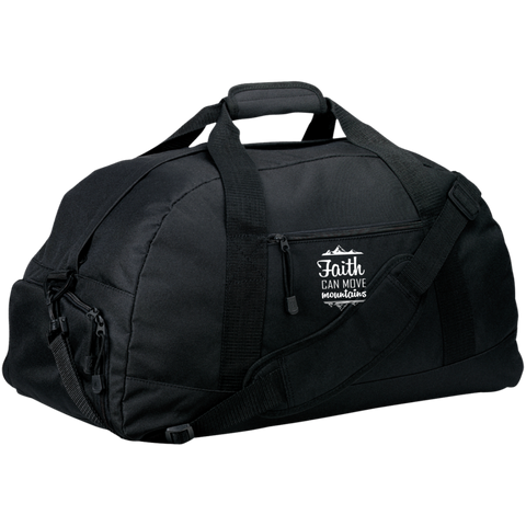 Faith Can Move Mountains Large-Sized Duffel Bag - Bags - Rebel Style Shop