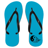 Gothic Yin Yang Flip Flops - Apparel - Rebel Style Shop