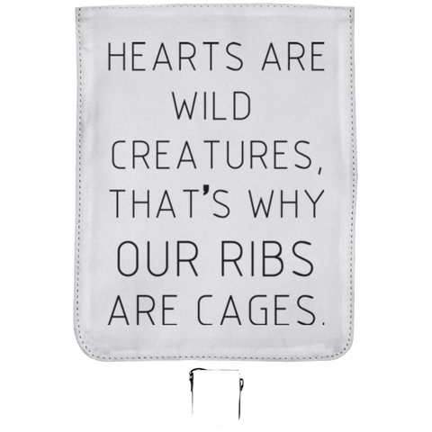 Hearts Are Wild Creatures Small Shoulder Bag - Bags - Rebel Style Shop