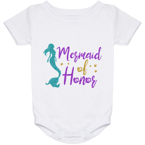 Mermaid Of Honor Baby Onesie 24 Month - T-Shirts - Rebel Style Shop