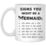 Signs You Might Be A Mermaid Mugs - Apparel - Rebel Style Shop