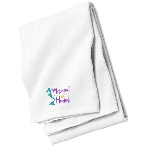 Mermaid Of Honor Beach Towel - Towels - Rebel Style Shop