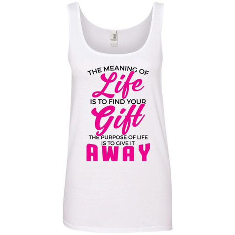 The Meaning Of Life Ladies Tank Tops - Apparel - Rebel Style Shop