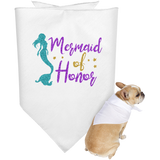 Mermaid Of Honor Doggie Bandana
