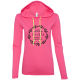 Cast All Your Anxiety On Him Ladies' LS T-Shirt Hoodie - T-Shirts - Rebel Style Shop