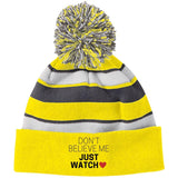 "Funky Beanie - ""Don't Believe Me Just Watch"" - Apparel - Rebel Style Shop"