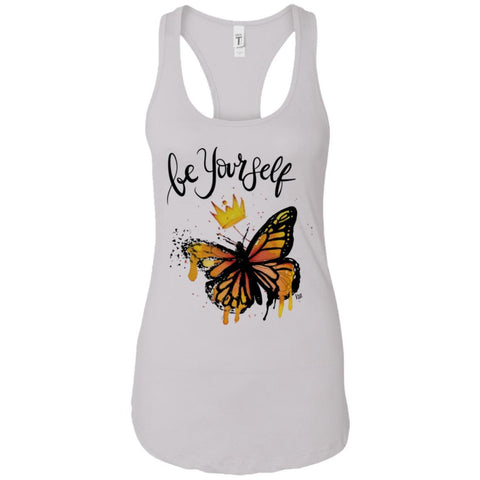 "Inspiring Butterfly Racerback Tank -""Be Yourself"""