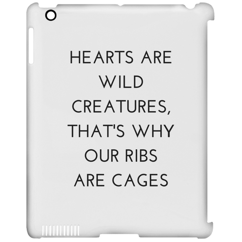 Hearts are Wild Creatures iPad Clip Case - Tablet Covers - Rebel Style Shop