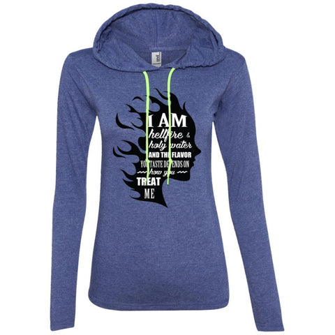 "Feminist Sweatshirt - ""I Am Both Hellfire And Holy Water, And The Flavor You Taste Depends On How You Treat Me"" Women"