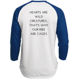 Hearts Are Wild Creatures Polyester Game Baseball Jersey - T-Shirts - Rebel Style Shop