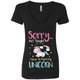 Sorry... Not Tonight Ladies' Deep V-Neck T-Shirt