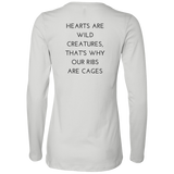Hearts Are Wild Creatures Ladies' Jersey LS Missy Fit - T-Shirts - Rebel Style Shop