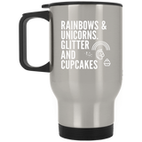 Rainbows And Unicorns, Glitter And Cupcakes Mugs - Apparel - Rebel Style Shop