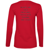 Hearts Are Wild Creatures Ladies' Lightweight LS T-Shirt