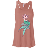 Mermaid Pig Flowy Racerback Tank - T-Shirts - Rebel Style Shop