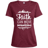 Faith Can Move Mountains Ladies' Heather Dri-Fit Moisture-Wicking T-Shirt - T-Shirts - Rebel Style Shop