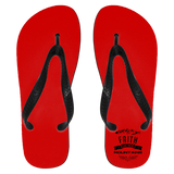 "Christian Apparel - ""Faith Can Move Mountains"" Flip Flops - Apparel - Rebel Style Shop"