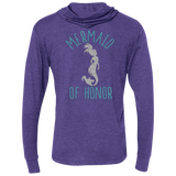 Mermaid Of Honor Unisex Triblend LS Hooded T-Shirt - T-Shirts - Rebel Style Shop