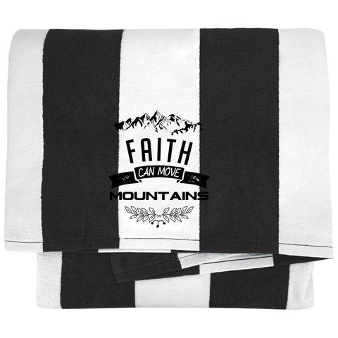 "Christian Gifts - ""Faith Can Move Mountains"" Towels - Apparel - Rebel Style Shop"