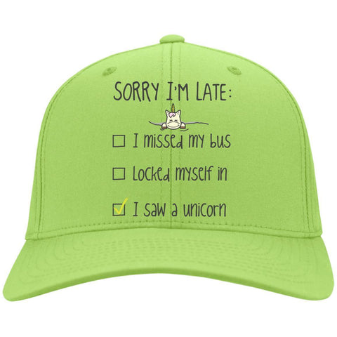 Sorry I'm Late... I Saw A Unicorn Caps - Apparel - Rebel Style Shop