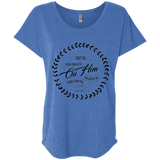 Cast All Your Anxiety On Him Ladies' Triblend Dolman Sleeve - T-Shirts - Rebel Style Shop