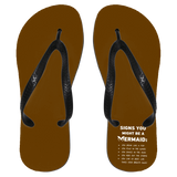 Signs You Might Be A Mermaid Flip Flops - Apparel - Rebel Style Shop