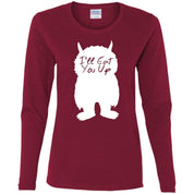I'll Eat You Up Ladies' Cotton LS T-Shirt