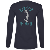 Mermaid Of Honor Ladies' Lightweight LS T-Shirt