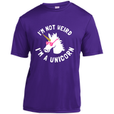I'm Not Weird, I'm a Unicorn Youth Moisture-Wicking T-Shirt