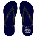 "Inspirational Flip Flops - ""I May Be Quiet But I'm A Warrior"""