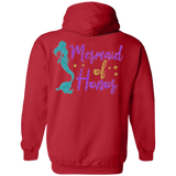 Mermaid Of Honor Pullover Hoodie 8 oz. - Sweatshirts - Rebel Style Shop