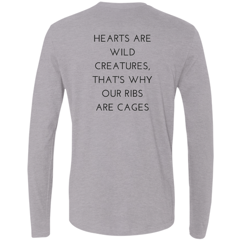 Hearts Are Wild Creatures Men's Premium LS - T-Shirts - Rebel Style Shop