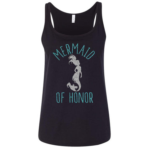 "Bridesmaid Ladies Tank Tops - ""Mermaid Of Honor"" - Apparel - Rebel Style Shop"