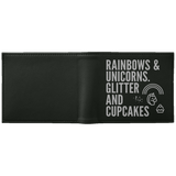 Rainbows And Unicorns, Glitters And Cupcakes Wallet - Apparel - Rebel Style Shop