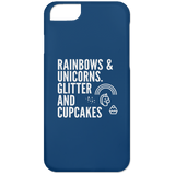 Rainbows And Unicorns, Glitter And Cupcakes Phone Cases - Apparel - Rebel Style Shop
