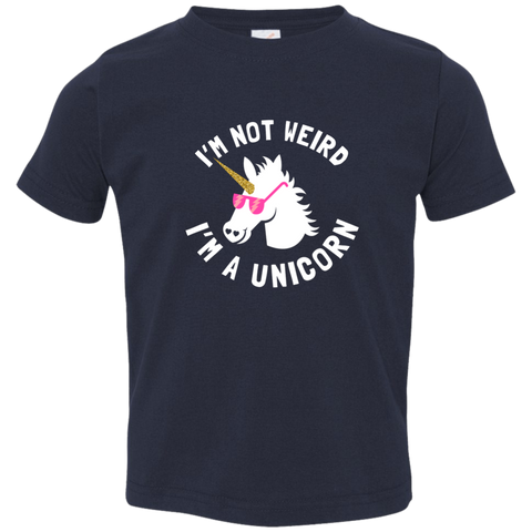 I'm Not Weird, I'm a Unicorn Toddler Jersey T-Shirt