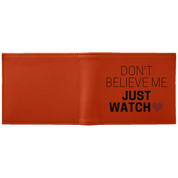 "Funky Wallet - ""Don't Believe Me Just Watch White"" - Apparel - Rebel Style Shop"