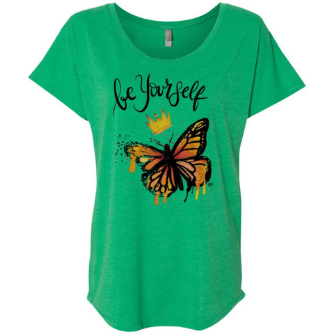 "Inspiring Butterfly Ladies Shirt - ""Be Yourself"""