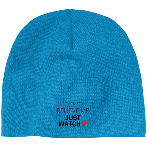 Don't Believe Me Just Watch Beanie - Apparel - Rebel Style Shop