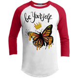 "Inspiring Butterfly Sporty T-Shirt - ""Be Yourself"""
