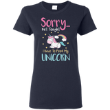 Sorry... Not Tonight Ladies' 5.3 oz. T-Shirt