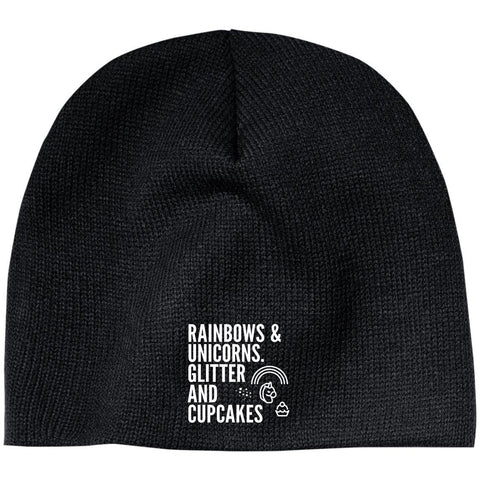 Rainbows And Unicorns, Glitter And Cupcakes Beanie - Apparel - Rebel Style Shop
