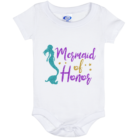 Mermaid Of Honor Baby Onesie 6 Month