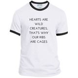 Hearts Are Wild Creatures Ringer Tee - T-Shirts - Rebel Style Shop