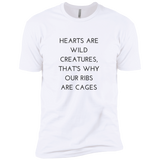 Hearts Are Wild Creatures Boys' Cotton T-Shirt - T-Shirts - Rebel Style Shop